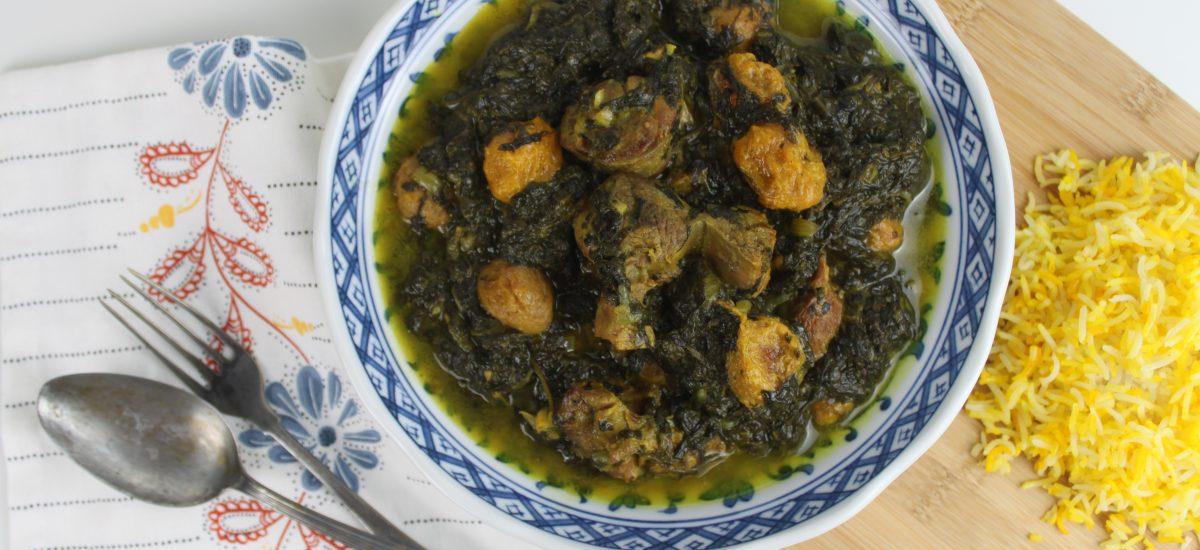 Spinach and Plum Stew Recipe – Khoreshe Aloo-Esfenaj